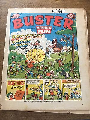 Vintage Buster & Monster Fun Comic 09/04/77 UK Paper Comic 40 Year Old 1970s 70s