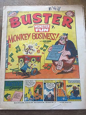 Vintage Buster & Monster Fun Comic 05/03/77 UK Paper Comic 40 Year Old 1970s 70s