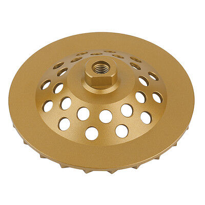 7 Inch X 24 Seg Disc Bowl Shape Diamond Cup Wheel Concrete Block Grinding Tool S