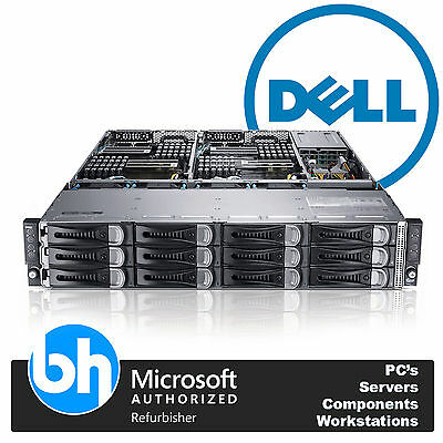 Dell PowerEdge C6100 8x Xeon Quad Core 32GB RAM Node Server Caddies & Rails 2U