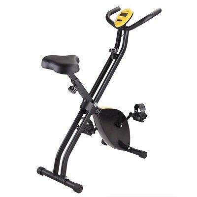 Folding Upright Exercise Bike Magnetic Bicycle Cycling Training Fitness Gym Home
