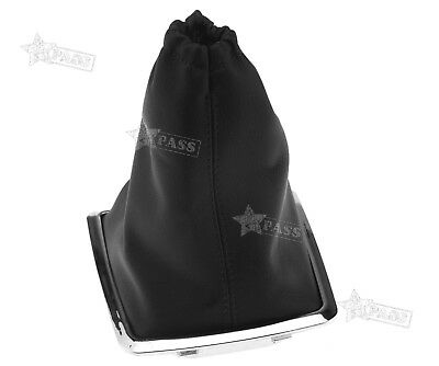 Black Shift Knob Gear Lever Cover Boot Gaiter PU For Ford Focus 2005-2010