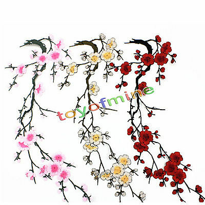 DIY Blossom Flower Embroidery Applique Clothing Patch Sticker Iron On Sew Cloth
