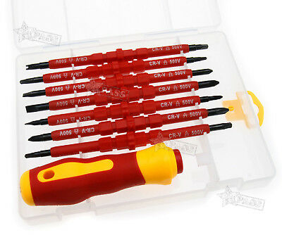 7pcs Electrician's Insulated Electrical Dual Hand Screwdriver Hand Tool Sets