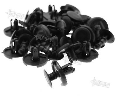 20 Pieces Black Wheel Liner Splash Guard Arch Trim Clips Fasteners For TOYOTA