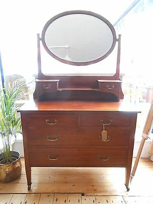 Edwardian Inlaid Mahogany Dressing Table / Chest of Drawers (1901-1910)