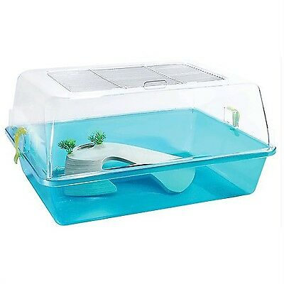 Pet Ting Turtle and Small Rodents Tank - Rodent Cage - Turtle Cage -Reptile BLUE