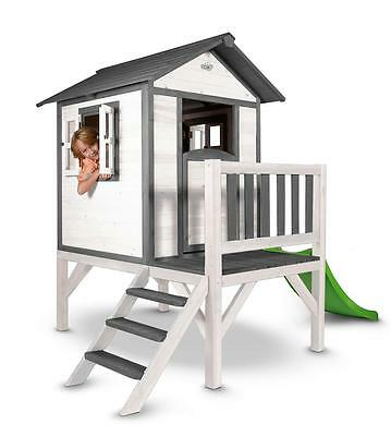 Sunny Lodge XL Wooden Playhouse with Slide