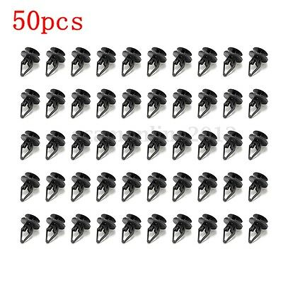 50pcs Nylon Liner Clip Push Pin Retainer For Ford Hummer GM Torrent Equinox