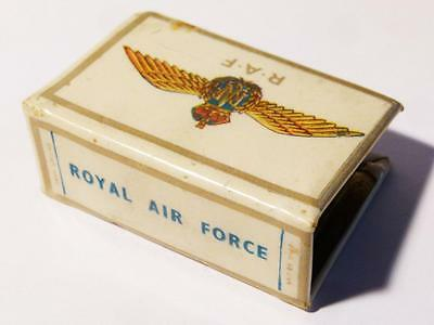 WW2 RAF Royal Air Force Pictorial Matchbox Holder Verse by Winston Churchill