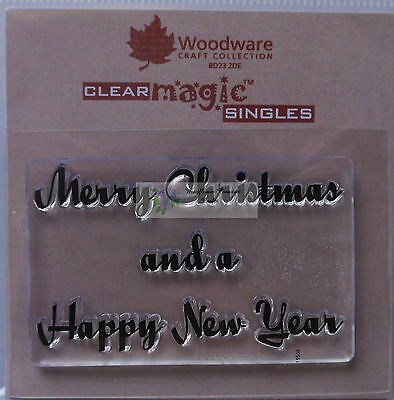 Woodware  Clear Stamp MERRY CHRISTMAS and a HAPPY NEW YEAR