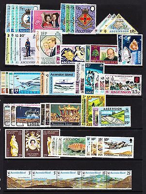 Ascension Various Unmounted Mint Commemorative Sets Between 1971-1997.