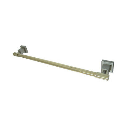 "Kingston Brass Claremont 18"" Wall Mounted Towel Bar Satin Nickel/Polished Brass"
