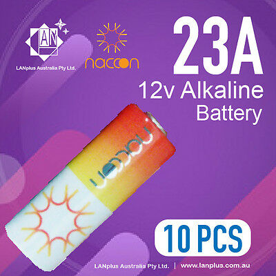 10x Naccoon A23 23A Alkaline Remote Batteries 12V LRV08 MN21 23A battery