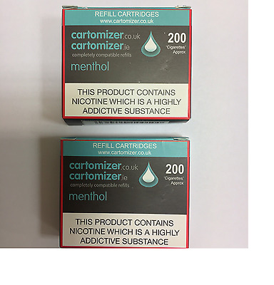 10 MENTHOL CARTOMIZERS  16 Mg COMPATIBLE WITH VIP