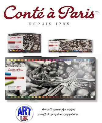 Conte a Paris Artists SOFT PASTEL SETS coloured sticks sketch/drawing designers