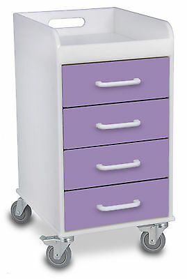 TrippNT 4 Drawer File Storage Cart Gum Drop Purple