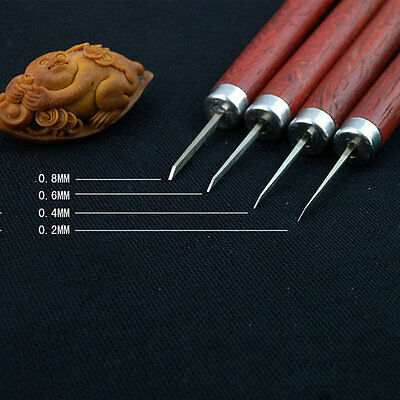 Professional 4 piece Woodpecker wood work knife Micro carving oilver tools set
