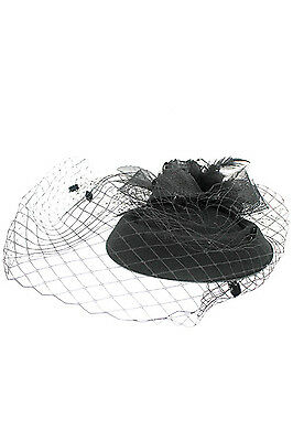 Womens Feather Fascinator Flower Hat British Style Church Hat MM3011