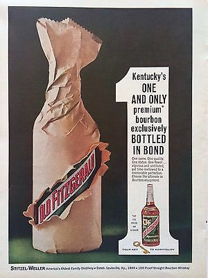 Vintage 1963 Ad For Old Fitzgerald Kentucky Bourbon
