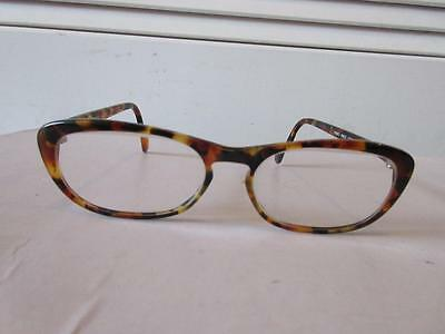Womens Beausoleil Brown Leopard Printed Frame/clear Prescription Lens Glasses