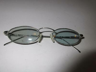 Womens Gucci Silver Metal Frame/clear Prescription Lens Glasses