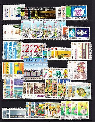Singapore Various Unmounted Mint Commemorative Sets 1983-1998.