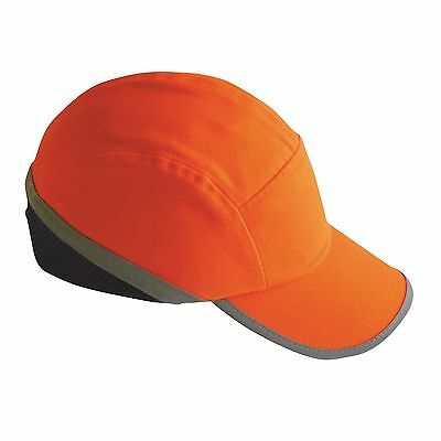 Hi Vis Safety Yellow Orange Baseball Bump Cap Hard Hat Safety Head Protection