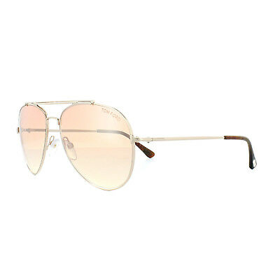 ecebf220ee TOM FORD SUNGLASSES 0497 Indiana 28Z Shiny Rose Gold Brown Gradient ...