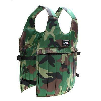 20kg Adjustable Weighted Vest for Workout Training Camouflage Oxford Cloth F1I7