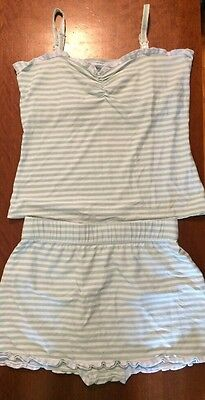 Sz M MOTHERWEAR 2 Pc Nursing Tank Pajamas Shorts Sleep Set Summer Maternity EUC