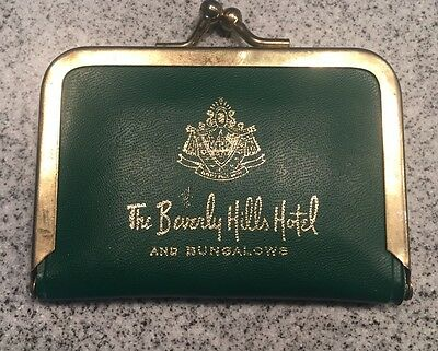 Vintage 1960s Beverly Hills Hotel Mini Sewing Kit Green Contents Complete