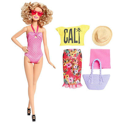 Barbie Glam Vacation Doll in Pink Polka Dot Swimsuit by Mattel (DGY74)