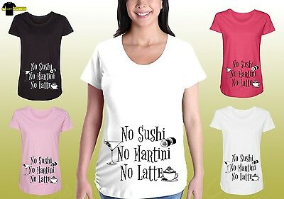 Funny Maternity Graphic Shirts Pregnancy Tee Cute Maternity Clothes No Martini