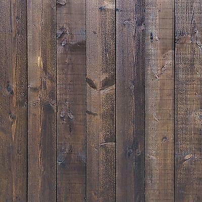 StudioPRO Photography Studio Background Vinyl Backdrop Deep Dark Brown Wood...