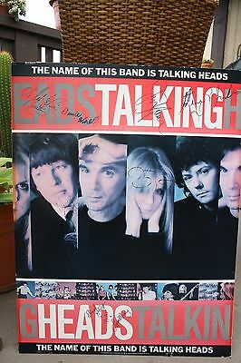 Autographed Talking Heads Concert Poster with Provenance