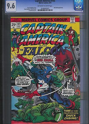 Captain America # 185 CGC 9.6  Off White to White Pages. UnRestored.
