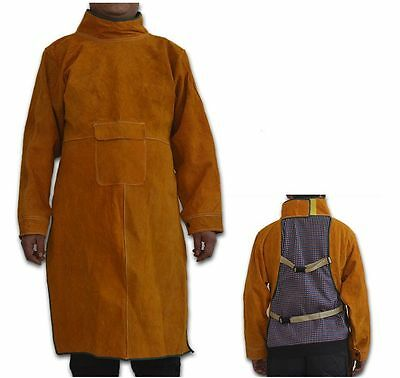 Adjustable Leather Welding Spats  Flame Resistant Welder Apron  Protect Cover
