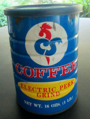 Vintage 1960's CS Coffee 1lb Coffee Can with Lid