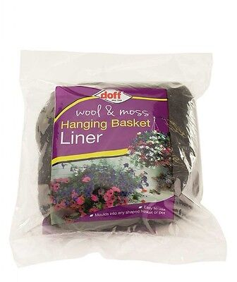 Pack Doff Wool & Moss Hanging Basket Liner