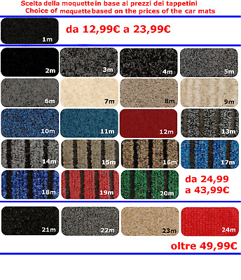 TAPIS MINI HATCH R50 R52 R53 2001-07 SUR MESURE, décoration : COOPER S + 4 Fix