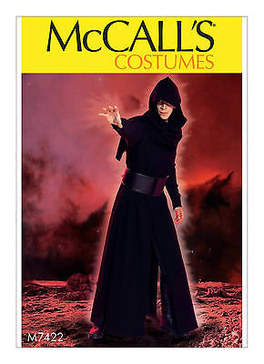 Kylo Ren Costume Star Wars Cosplay Men S-XXL Sewing Pattern MCCALLS UNCUT 7422