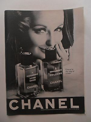 1967 Print Ad Chanel No 5 Perfume Fragrance For Men ~ Her Idea of a Man