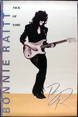 Bonnie Raitt - Nick of Time _ORIGINAL_ Record Store Promo Poster 1989 Capitol