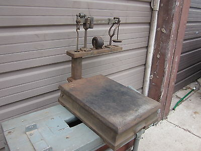Antique 1932 Cast Iron Howe Post Office 100 Lb. Weight Scale - USPS USPO