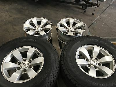 Ford Ranger Wildtrack 16 Inch Set Of 4  Mag Wheels And Tyres 6 Stud Good Cond