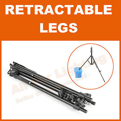 RETRACTABLE LEGS 5 section 48-200cm Compact Light Stand for Flash Strobist