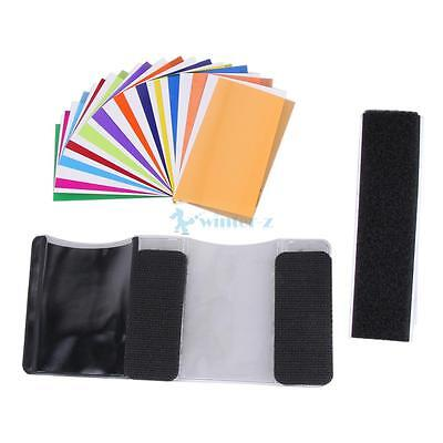 HOT~ 12 Pieces Card for Flash Gel Filter Color Balance Diffuser Lighting