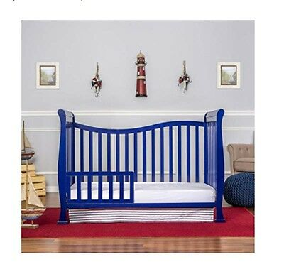 7 in 1 Convertible Crib for Baby Toddler Daybed Full Infant Nursery Blue