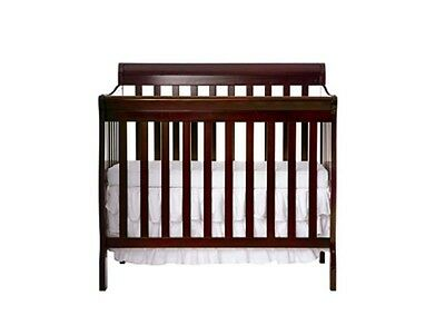 Convertible Mini Crib for Baby 4 in 1 Twin Size Daybed Infant Toddler Espresso